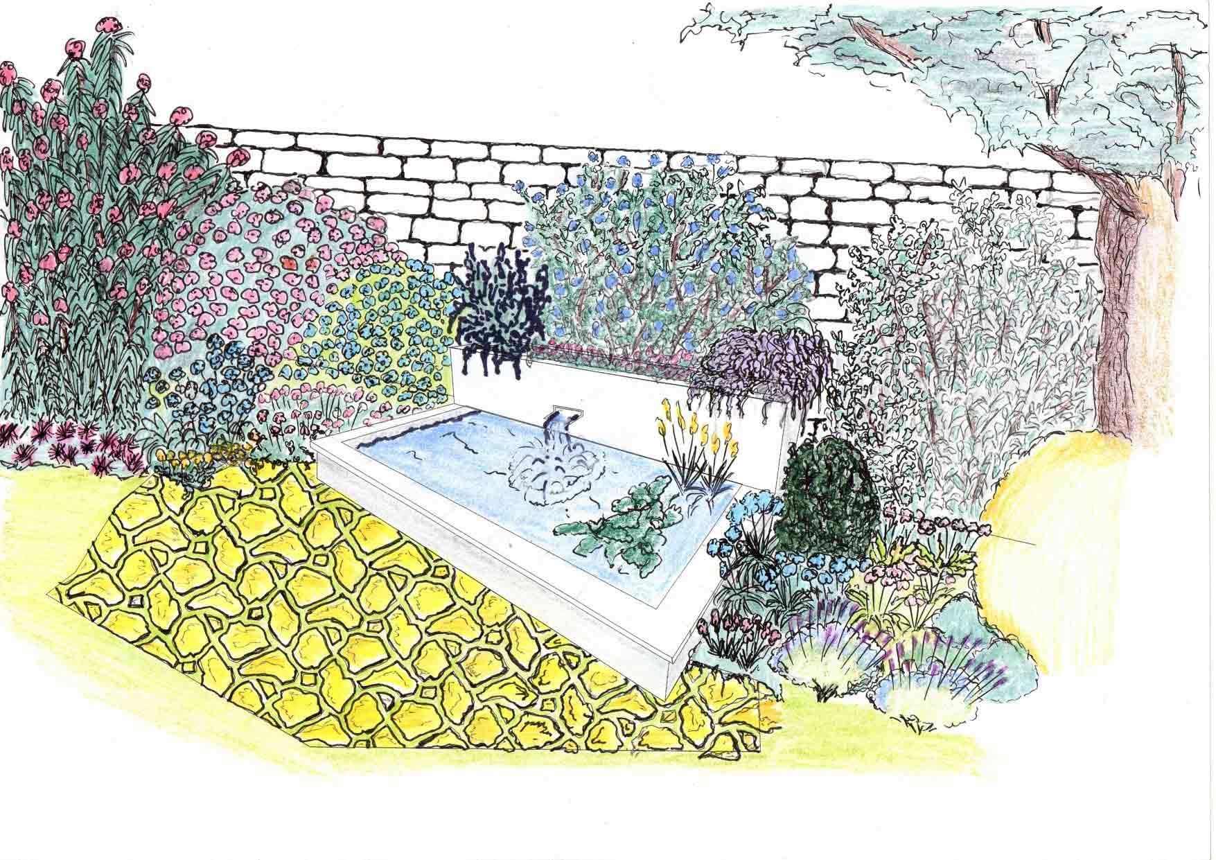 Un jardin coloré et reposant