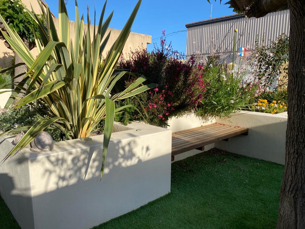 Réaménagement complet d'un jardin à Gruissan